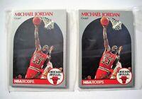 1990-91 Hoops Chicago Bulls Team Set Lot (2 Sets, 11 Cards Each, Series 1) NMMT