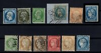 AY142410/ FRANCE – YEARS 1854 - 1873 USED CLASSIC LOT – CV 185 $
