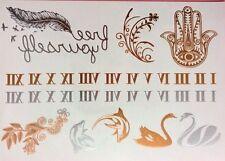 Esclusivo Design Oro Metallico Tatuaggi Temporanei (Tullia) + FREE design