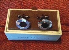New Joseph Abboud Cuff Links Silver/Black Men's Jewelry New Design NIB