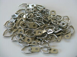D Ring Picture Hangers with Screws - Pro Quality d-rings - 100 Pack Hanger