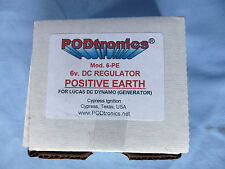 PODTRONICS 6V DC. REGULATOR POS EARTH P/N POD-6-PE LUCAS REPLACEMENT