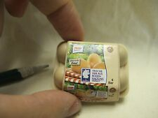 D001 Dollhouse Miniature Box of eggs pack of eggs migros supermarket 1:4