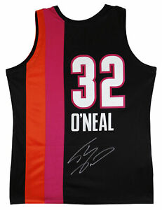 Heat Shaquille O'Neal Signed Black 05-06 M&N HWC Nights Authentic Alt Jersey BAS