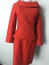 THIERRY MUGLER Paris , Red, Wool SKIRT SUIT , size 40