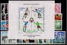 TIMBRES MONACO 1982 ANNÉE COMPLÈTE  NEUF** COTE 136€ SUPERBE
