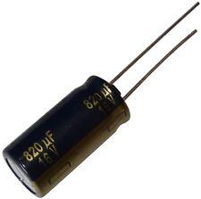 5x Condensateur chimique LOW ESR 820µF ±20% 16V THT 105°C 3000h Ø10x20mm radial