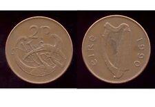 Irlanda 2p Peniques Moneda de cobre-plateado de acero de 1990-Libro de Kells estilizado pájaro