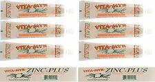 6 Pack Zinc-Plus Herbal Natural Toothpaste 4 Oz  Effective - Gluten Free NO SLS