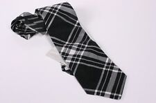 Damen Krawatte schwarz-grau-weiß reine Seide Elegance
