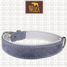 WOZA Premium Dog Collar Full Leather Soft Genuine Cow Napa Padded Handmade A7484