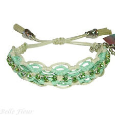 """Rose Gonzales """"Naomi"""" Fresh Collection Woven Bracelet in Mint Green & Old Lace"""