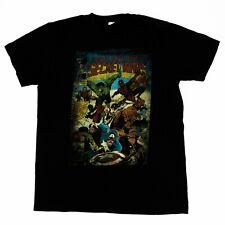 Marvel Men's Shirts Crewneck Secret Wars Comic Book Cover Graphic Black Sz Large