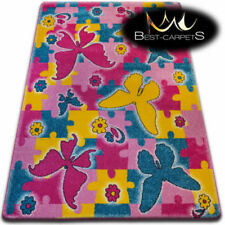 Alfombras rectangulares para niños, mariposas