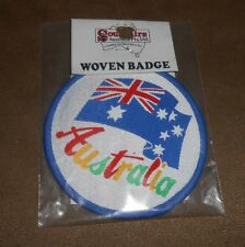 """Australia Flag Embroidered 3"""" Round Patch - Souvenir - Brand NEW in Package"""