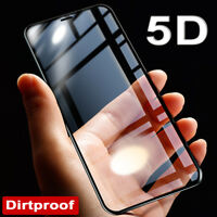 5D Dirtproof Tempered Glass Screen Protector Full Glass Film for iPhone X 8/Plus