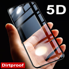 5D Dirtproof Tempered Glass Screen Protector Full Glass Film for iPhone X