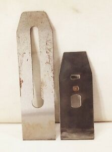 Vtg antique stanley no.4 5 size 25 deg. blade iron chip breaker wood plane part