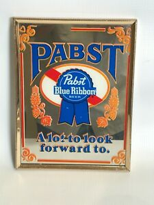 Pabst Blue Ribbon Beer Framed Mirror Vintage