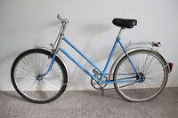 """original DDR 26"""" Damenfahrrad MIFA Fahrrad blau Kult Felgenbremse Vintage"""