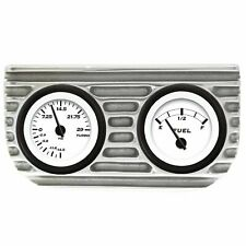 Vintage® Finned Dual Bezel Mount w/ Aurora® Boost and Fuel Gauges VPAGB2BF