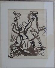 "RB ""hl. Georg mata al dragón"", tinta china, ger/cristal (249/13011)"