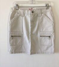 Roxy Chino 6 Pocket Denim Skirt Khaki Tan Women's Size 1 NWOT