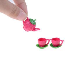 3pcs/set Barbie Doll Accessiores Tea Pot Cups Plates Set Dollhouse Decor ^