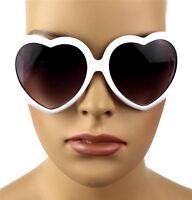 NEW WOMEN'S RETRO SEXY DESIGNER LOLITA HEART SHAPED SUNGLASSES WHITE KS1215