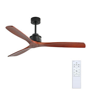 Industrial 60 in. Indoor/Outdoor Classic Ceiling Fan with Remote Control 6 Speed