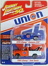 JOHNNY LIGHTNING 2 Pack UNION 76 1970 Chevy Camaro Z28 &1965 Chevy Tow Truck