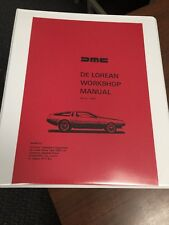 De Lorean Factory Workshop Manual Instruction Repair Service