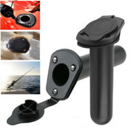 1/2/4X Flush Mount Fishing Boat Rod Holder Bracket With Cap Cover for Kayak Pole