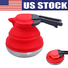 Silicone Collapsible Folding Kettle Travel Camping Foldable Gas Stove Hob Pot US