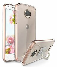 Motorola Moto Z Force Droid Case AntiScratch Sim Crystal Clear Ring Holder Stand