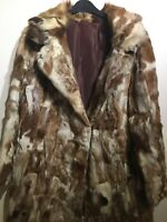 "Vintage 1960s Ladies patchwork Real fur coat bust 40"" size UK 12 length 33"""
