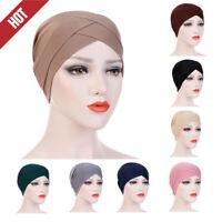 Women Muslim Turban Cancer Chemo Cap Hijab Hair Headwrap Hat Bandana Scarf