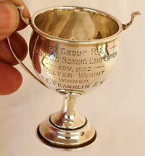 Sterling Silver Royal Air Force/RAF Boxing Trophy Cup Welter Weight 1922. Scrap?