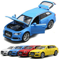 1:32 Audi RS6 Quattro Model Car Metal Diecast Gift Toy Vehicle Kids Collection