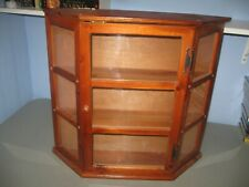 Wall Mounted Curio Wood Cabinet