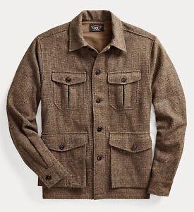 RRL Ralph Lauren Tweed Wool Blend Overshirt Jacket-MEN- L