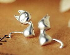 Ohrstecker in Form einer Katze aus 925 Sterling Silber