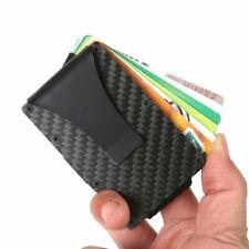dcfc1ea40a Slim Fibra Di Carbonio Porta Carte Credito Sezione Tessere Metallo  Portafogli T3
