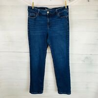 Lane Bryant SIGNATURE FIT MAGIC WAISTBAND MID RISE STRAIGHT Blue Jeans Sz 14