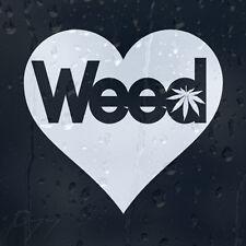 Heart Weed Marijuana Leaf Car Or Laptop Decal Vinyl Sticker For Window Panel