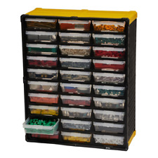 Small Parts Tool Organizer Storage Rack 30 Compartment Plastic Bin Drawer labels