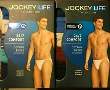 Jockey Life Mens 24/7 Comfort Cotton String Bikini 5pack L(36-38) XL(40-42) NWT