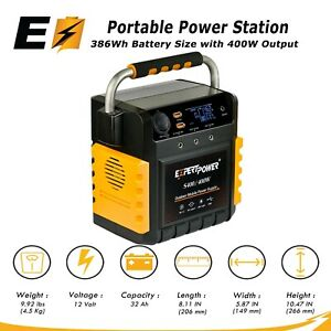 10LBs Portable Solar Generator with 110V/400W AC Outlets for Emergency Powers