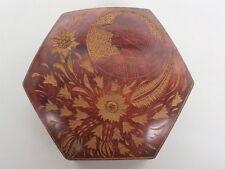 Carved Hexagonal box - Krakow - Dated 1931 - 150mm across