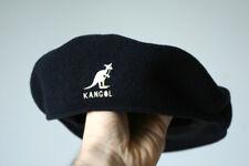 Kangol 504 vintage classic 100% wool navy blue newsboy Hat Cap xl on tag fit M